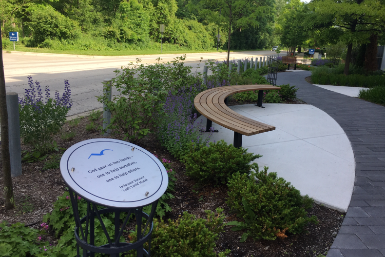 Peace garden surrounds Holocaust museum with a contemplative, relaxed space