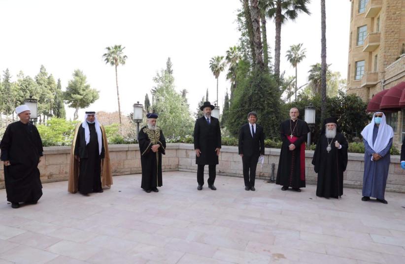 Religious leaders pray in Jerusalem for end of coronavirus pandemic