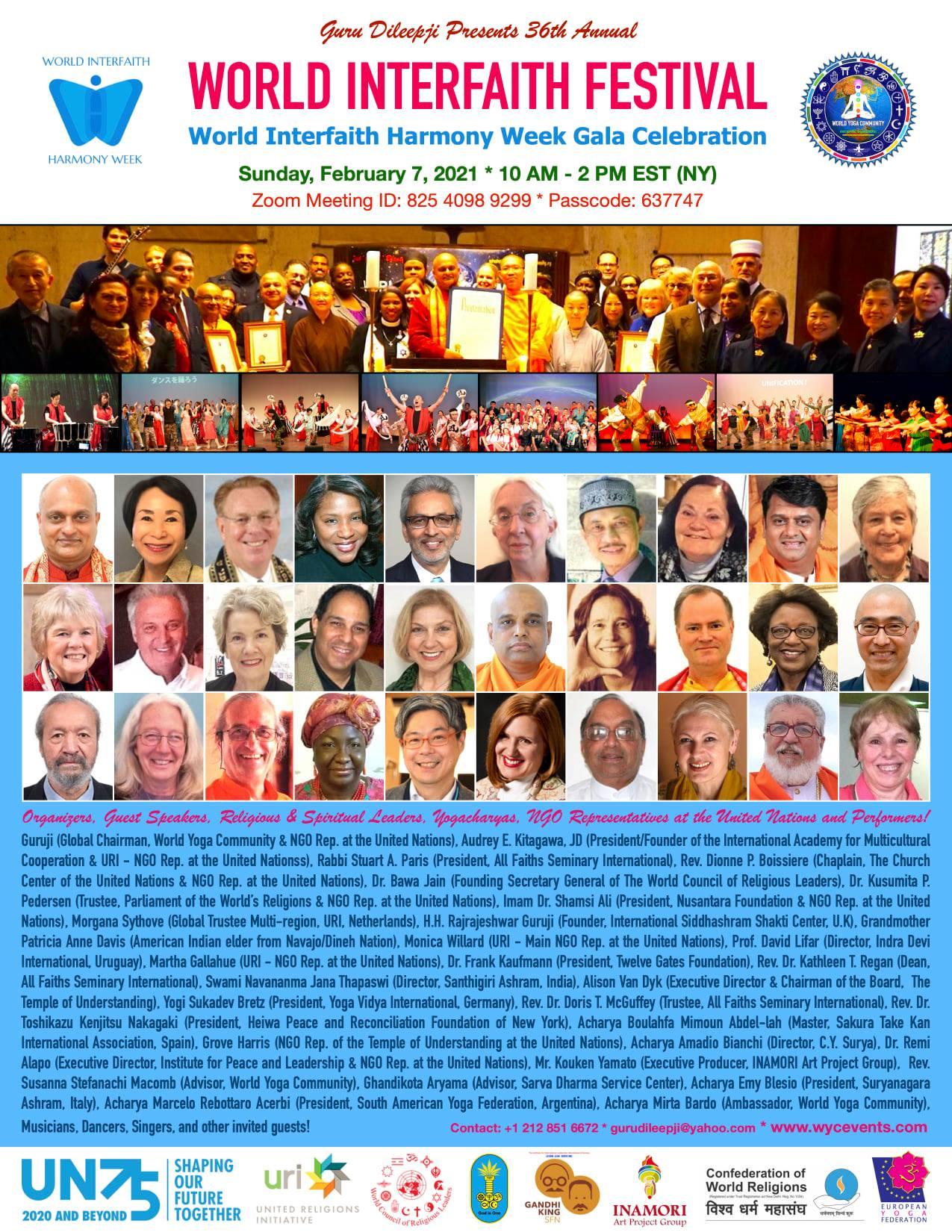 President of Twelve Gates Foundation To Speak At World Interfaith Harmony Week